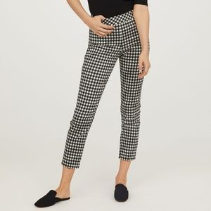 H&M slacks 18 gingham black and white cotton